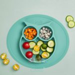 Cute KUB Suction Silicone Plates-Green