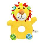 Cute Animal Shape Round Hand Bell Rattle-Lion