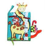 Cute Three-Dimensional Baby Tail Cloth Book -Jungle Funny