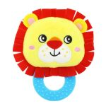 Cute Animal BB Sounds Jelly Teether Rattles -Lion