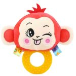 Cute Animal BB Sounds Jelly Teether Rattles -Monkey