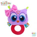 Cute Animal BB Sounds Jelly Teether Rattles -Owl