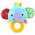 Cute Animal BB Sounds Jelly Teether Rattles -Elephant