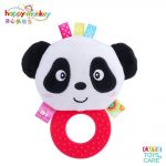 Cute Animal BB Sounds Jelly Teether Rattles -Panda