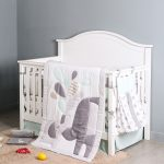 Cute Little Grey Elephant With Mom Baby Bedding Set