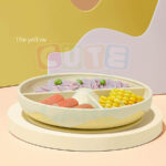 Cute KUB Silicone Suction Plate-Yellow