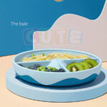 Cute KUB Silicone Suction Plate-Blue