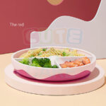 Cute KUB Silicone Suction Plate-Pink