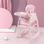 Cute KUB 5 In 1 Convertible Baby Feeding Chairs & Children Play Table-Pink