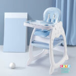 Cute KUB 5 In 1 Convertible Baby Feeding Chairs & Children Play Table -Blue