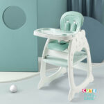 Cute KUB 5 In 1 Convertible Baby Feeding Chairs & Children Play Table -Green
