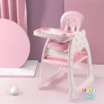 Cute KUB 5 In 1 Convertible Baby Feeding Chairs & Children Play Table -Pink
