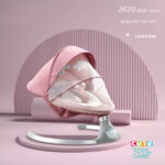Cute KUB Automatic Electric Baby Swing Bed-Pink