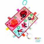 Cute Multifunctional Cognitive Teether Label Soothing Towel -Insect