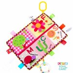 Cute Multifunctional Cognitive Teether Label Soothing Towel -Flowers